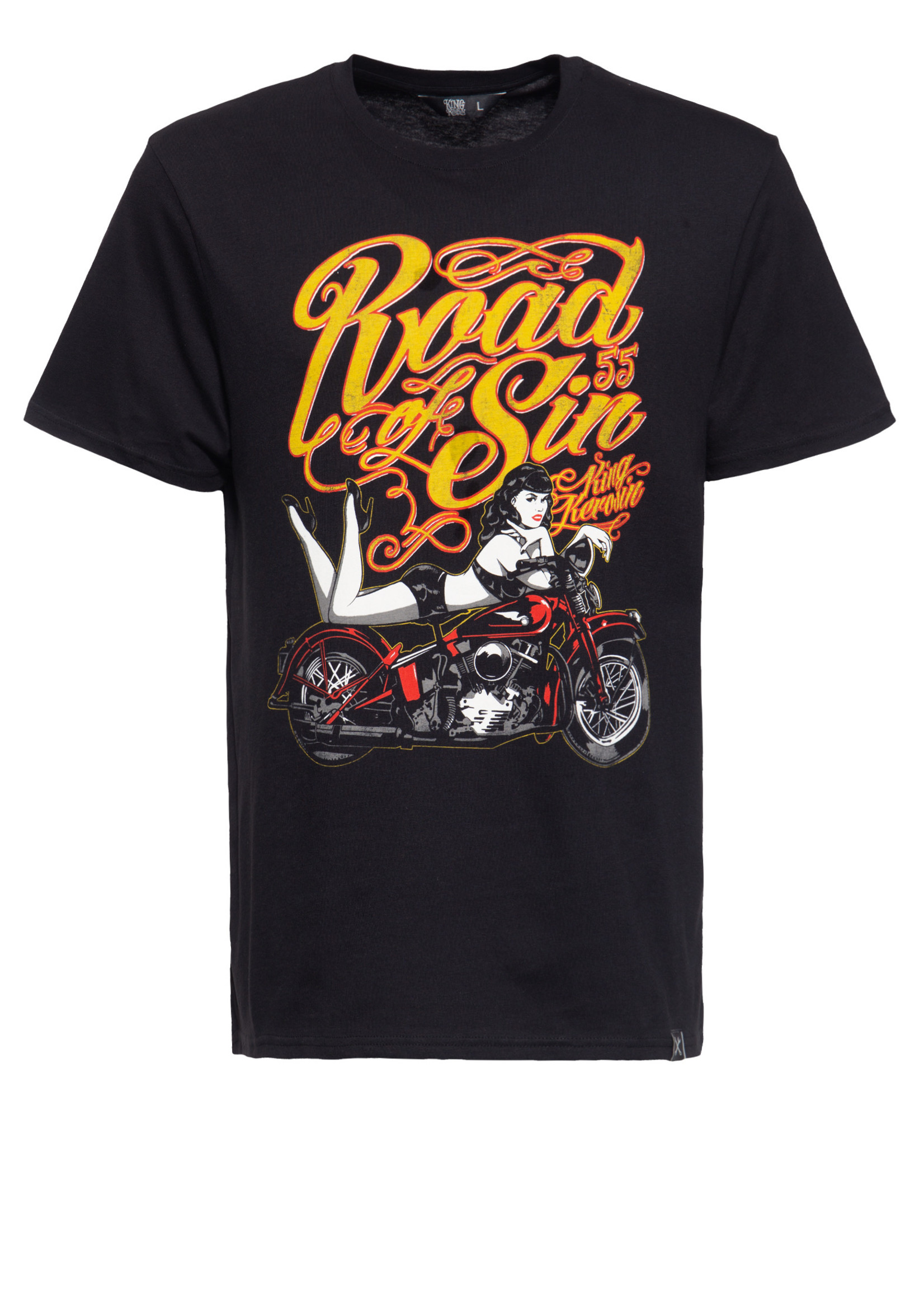 King Kerosin King Kerosin T-Shirt Road Of Sin in Black