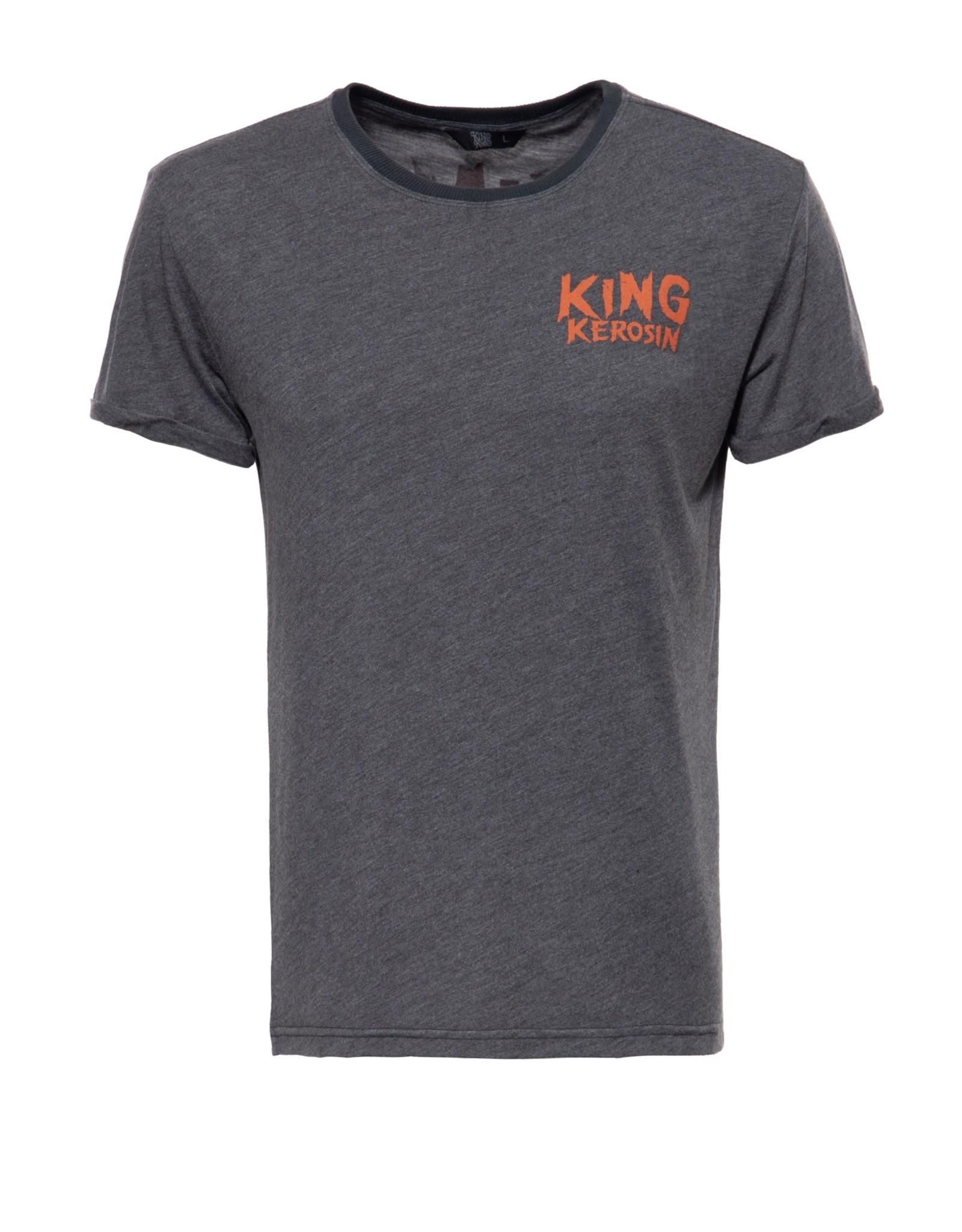 King Kerosin King Kerosin T-Shirt King Of Fucking Everything in Black/Grey