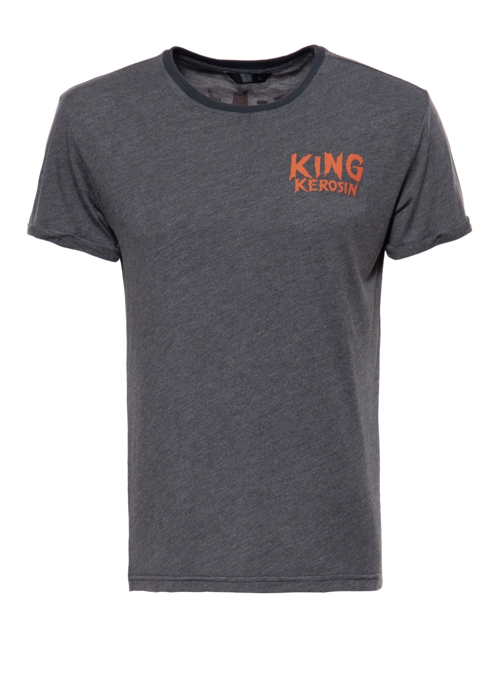 King Kerosin King Kerosin T-Shirt King Of Fucking Everything in Black/Grey