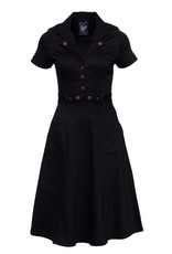Queen Kerosin Queen Kerosin Workers Denim Swing Dress in Black
