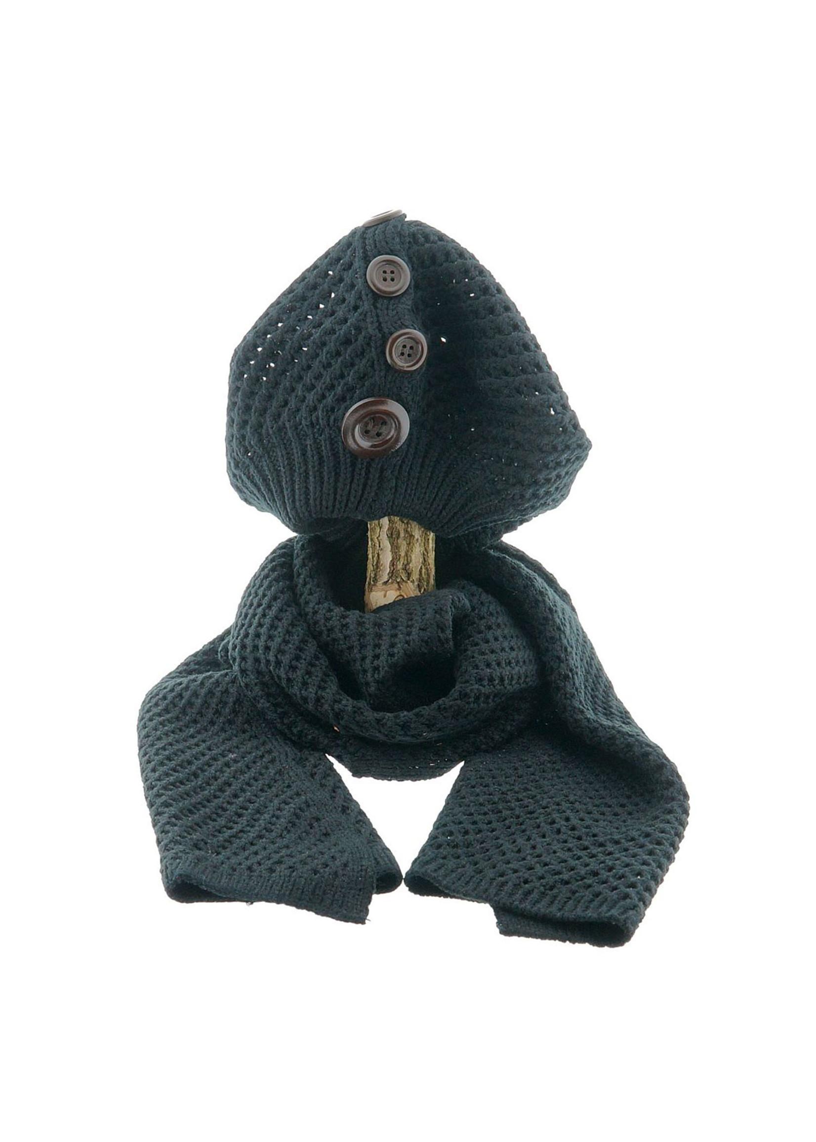 Rebel-Art by Miss Rebel Queen Barret en sjaal zwart