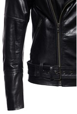 Queen Kerosin Queen Kerosin Leather Jacket in Black