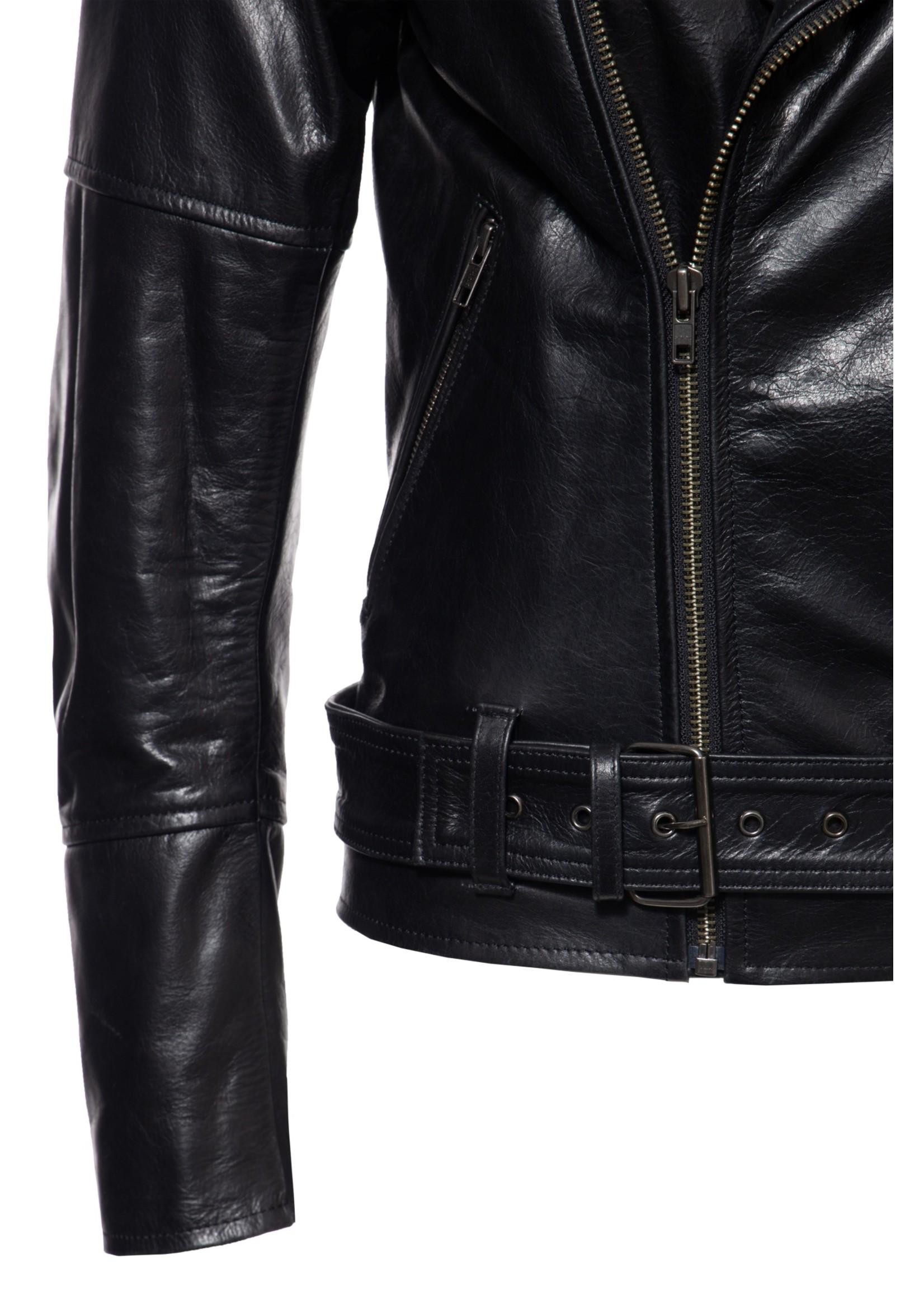 Queen Kerosin Queen Kerosin Leather Jacket in Black
