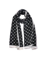 Polkadot Scarf in Black