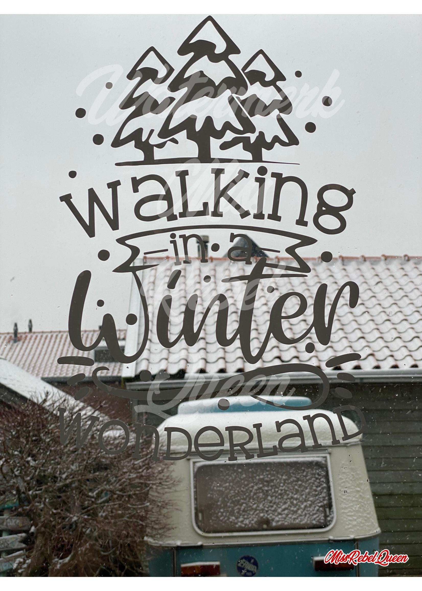 MRQ by Miss Rebel Queen Raamsticker Walking in a Winter Wonderland