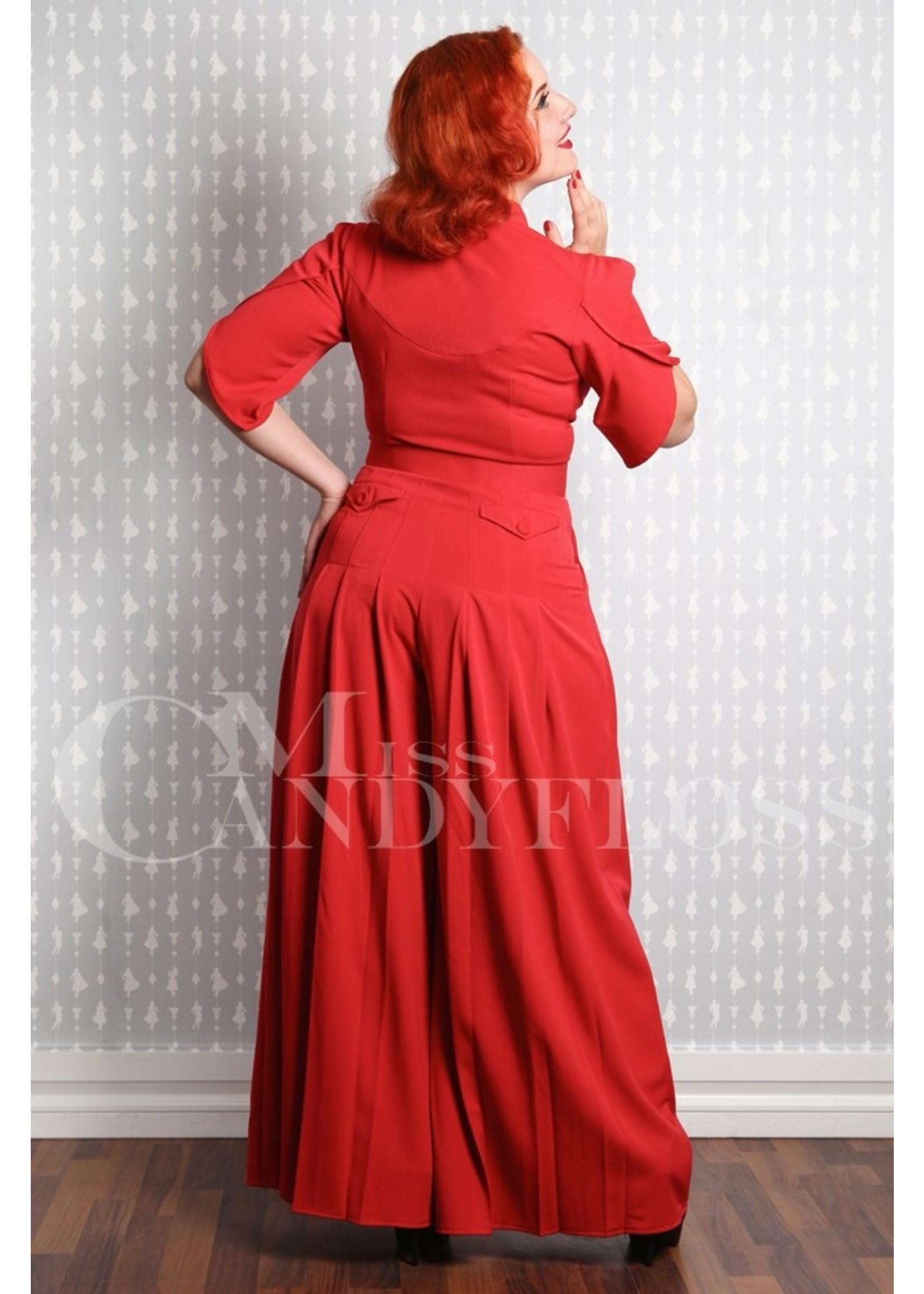 Miss-Candyfloss Miss Candyfloss Gigi-Lou Pantskirt Jumpsuit in Rose