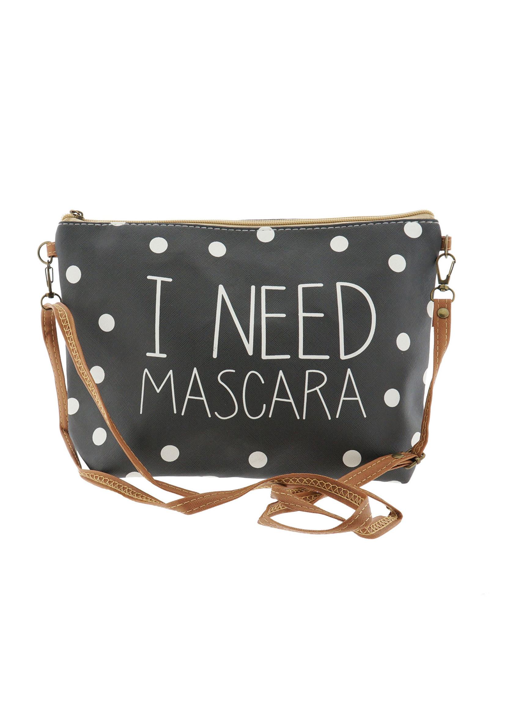 "Make-Up bag ""I NEED Mascara"""