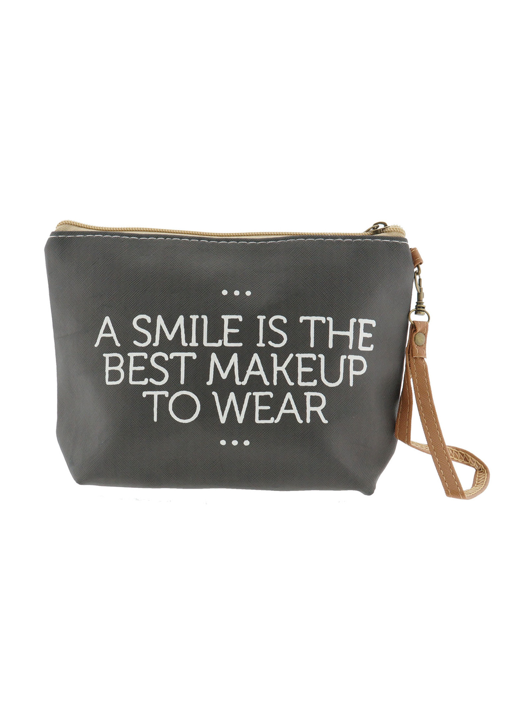 """Make-Up bag """"A smile is the best makeup to wear"""""""
