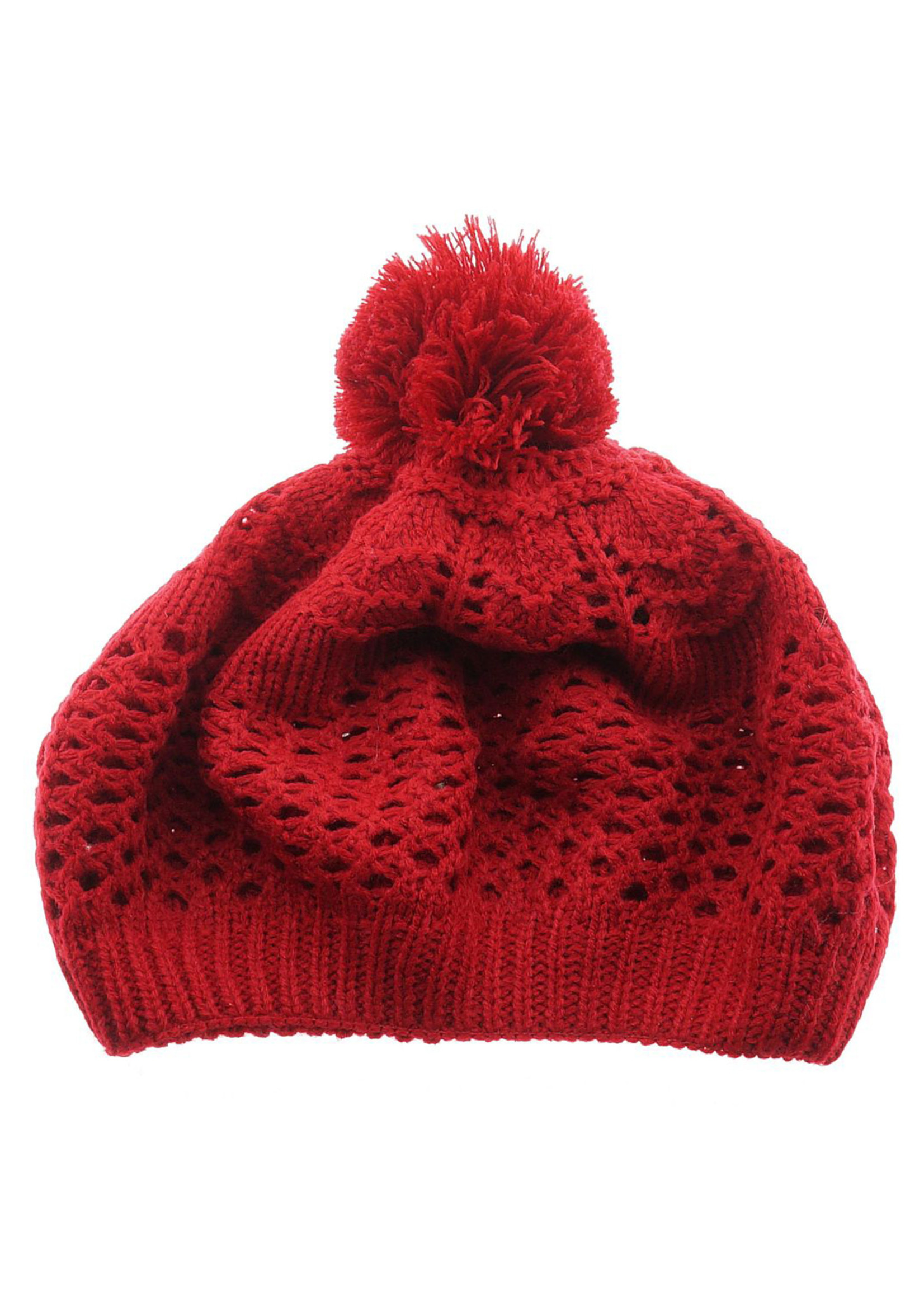 Knitted hat in Red