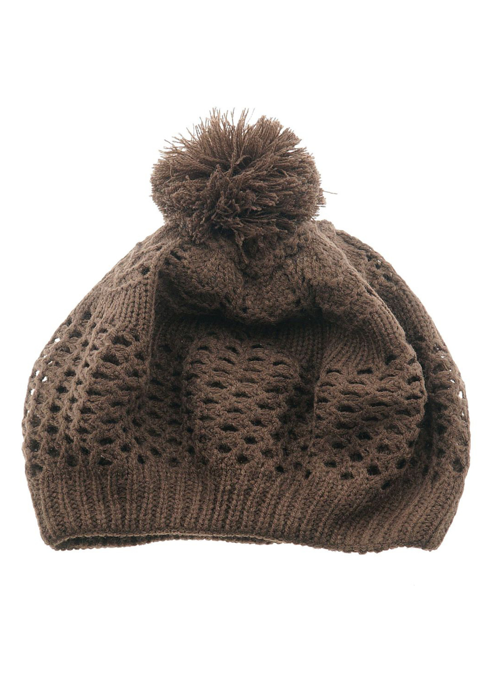 Knitted hat in Brown