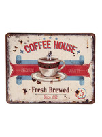 """Coffee House"" metal sign"