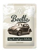 Nostalgic Art Beetle VW Enjoy the way to your desitantion metal sign