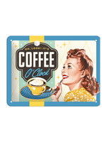 Nostalgic Art Oh Look It's Coffee O'Clock Metal sign