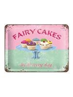 Nostalgic Art Fairy Cakes Metal sign