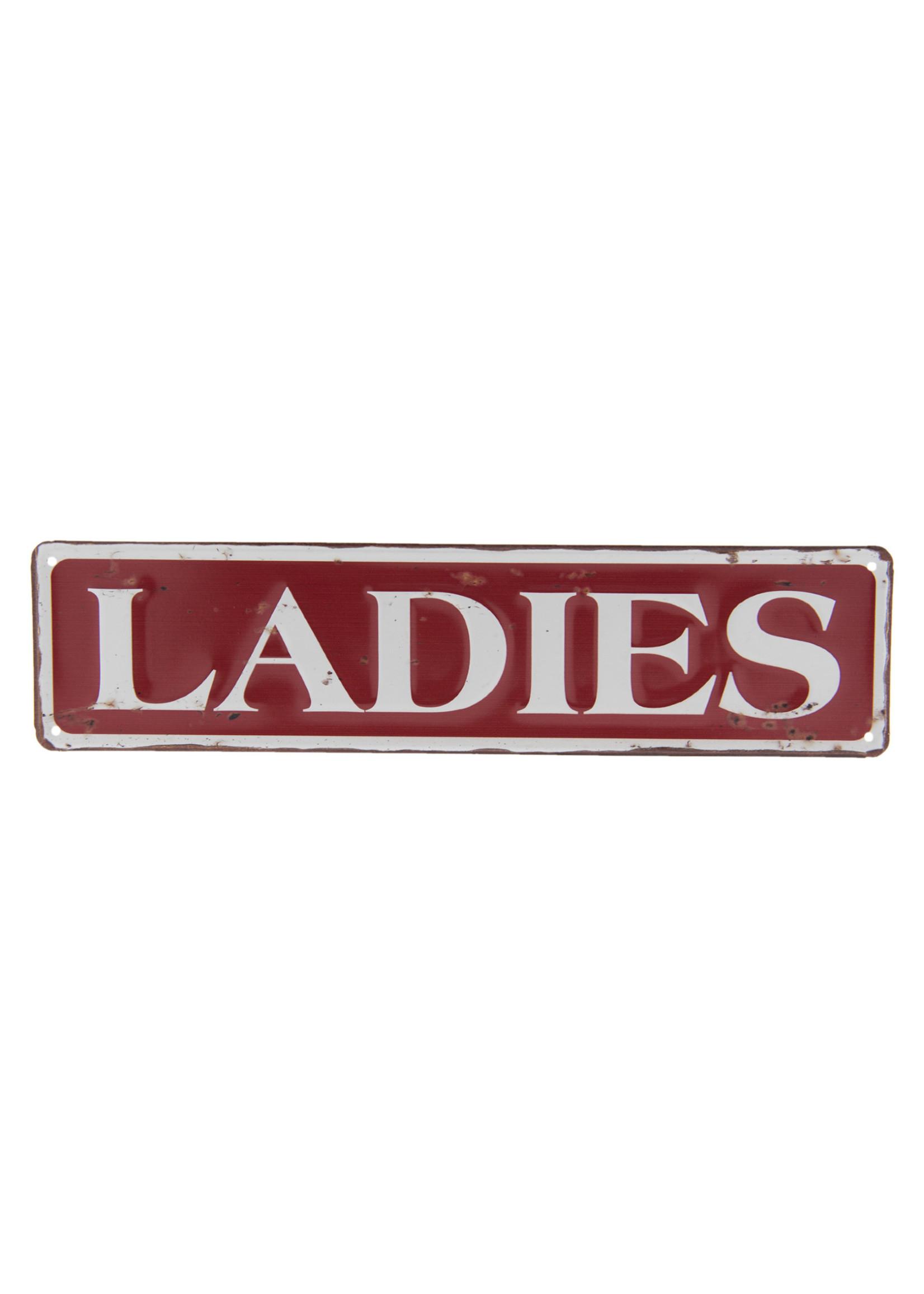 "Metal wall sign 40 x 10 cm ""Ladies"""