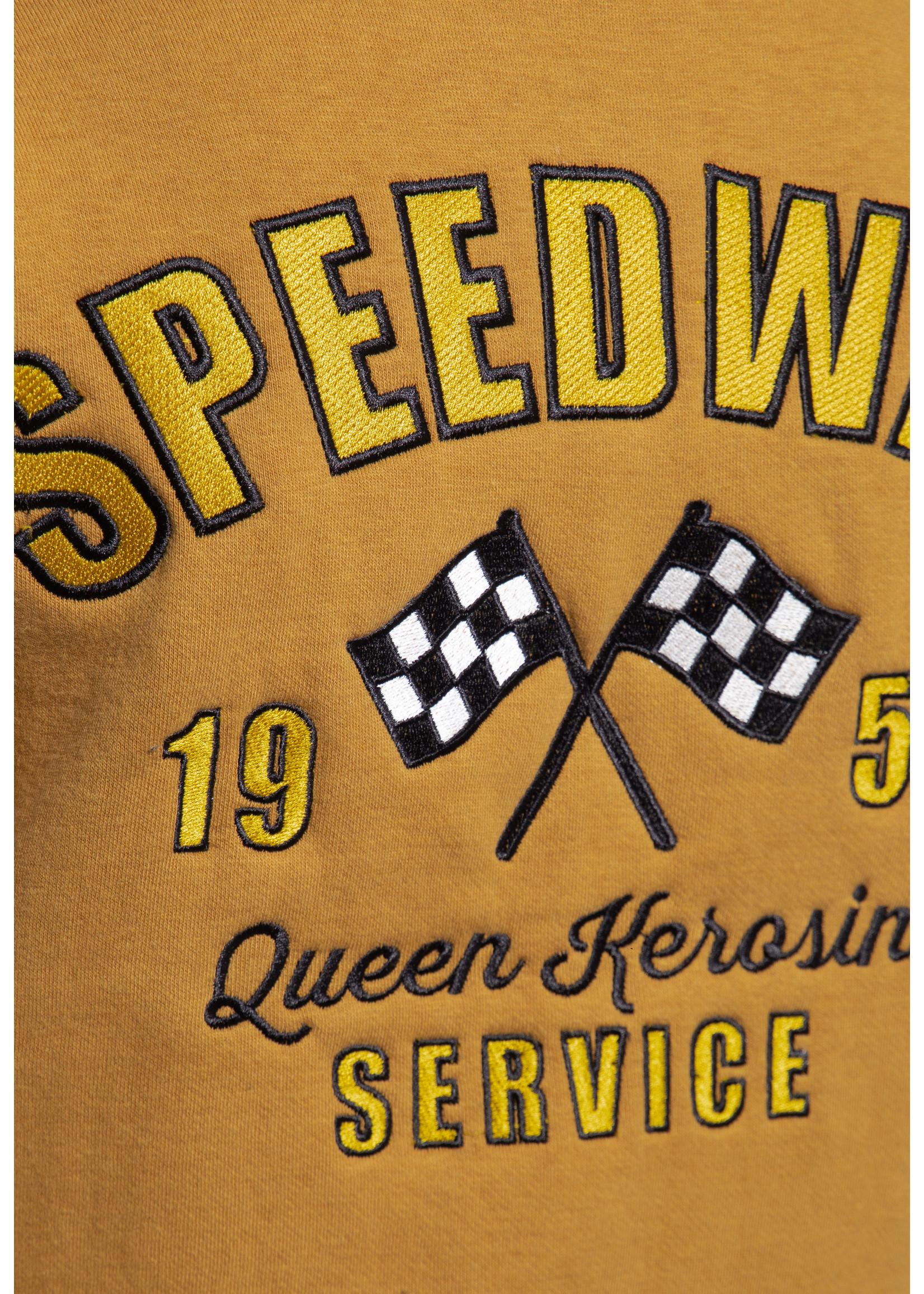 Queen Kerosin Queen Kerosin Baseball jacket Speedway Queens Light Brown & Ecru