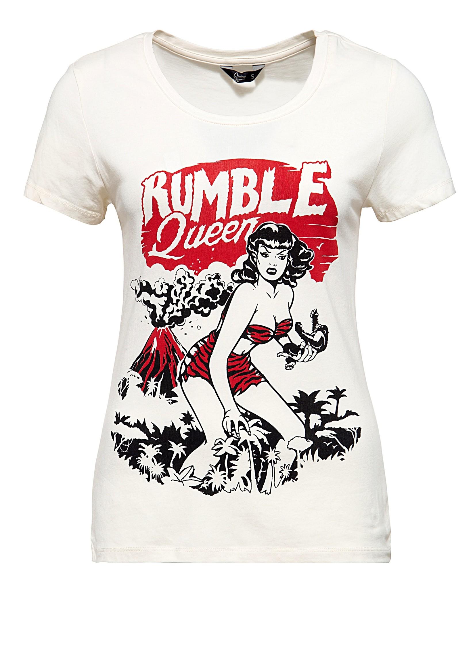 Queen Kerosin Queen Kerosin 50s T-Shirt Rumble Queen Offwhite