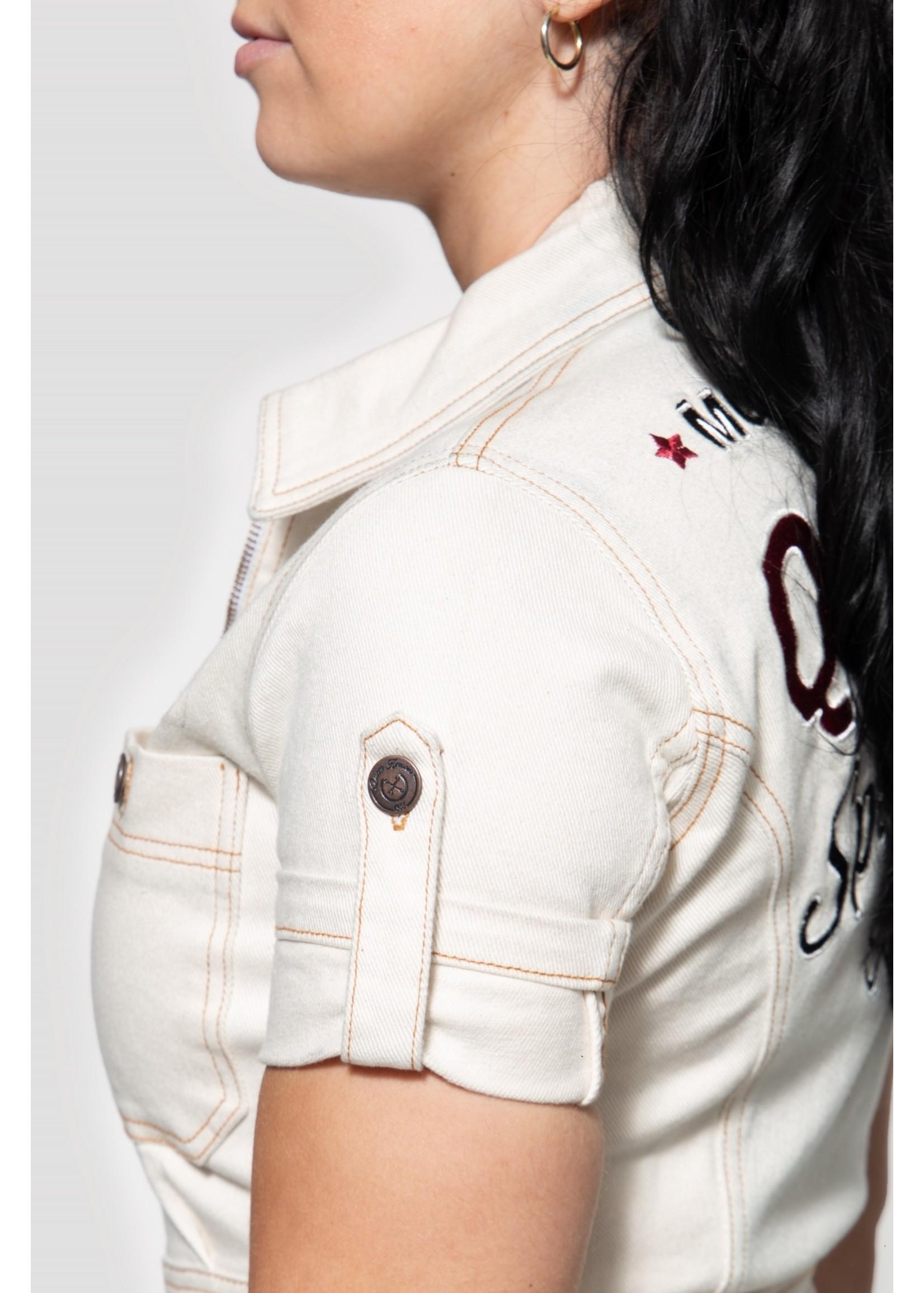 Queen Kerosin Queen Kerosin 50s Workwear Dress in Offwhite