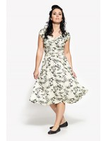 Queen Kerosin Queen Kerosin 50s Coconut Island  Swing Dress in Creme