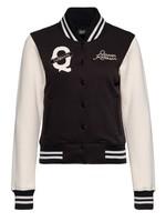 Queen Kerosin Queen Kerosin Q California College Sweat Jacket  in Black and Offwhite