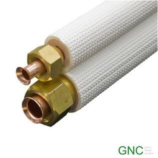 Koudemiddelleidingset tbv airconditioning en warmtepomp