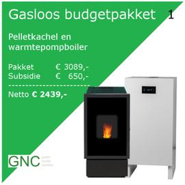 Budgetpakket: Pelletkachel en Warmtepompboiler