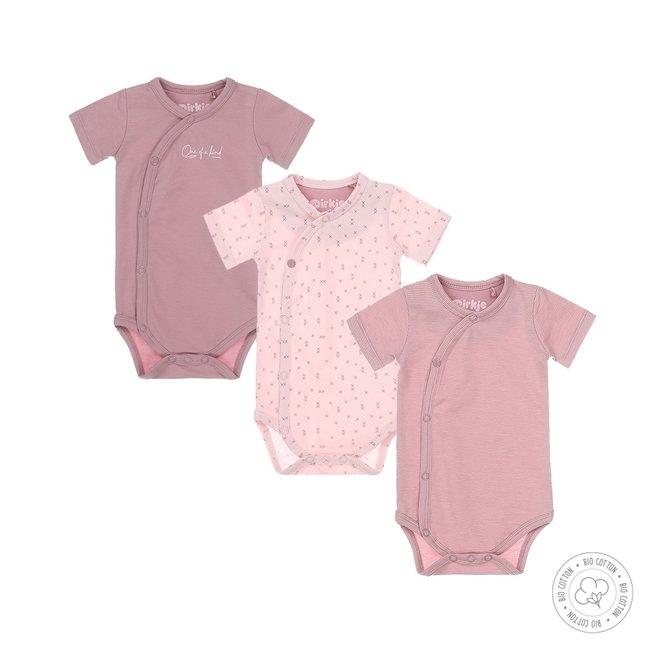 Dirkje girls bodysuit 3-pack pink and mauve