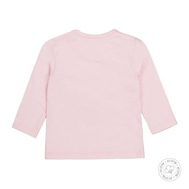 Dirkje meisjes babyshirt roze met plooi