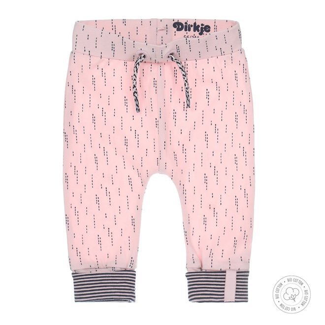 Dirkje girls baby pants pink with print