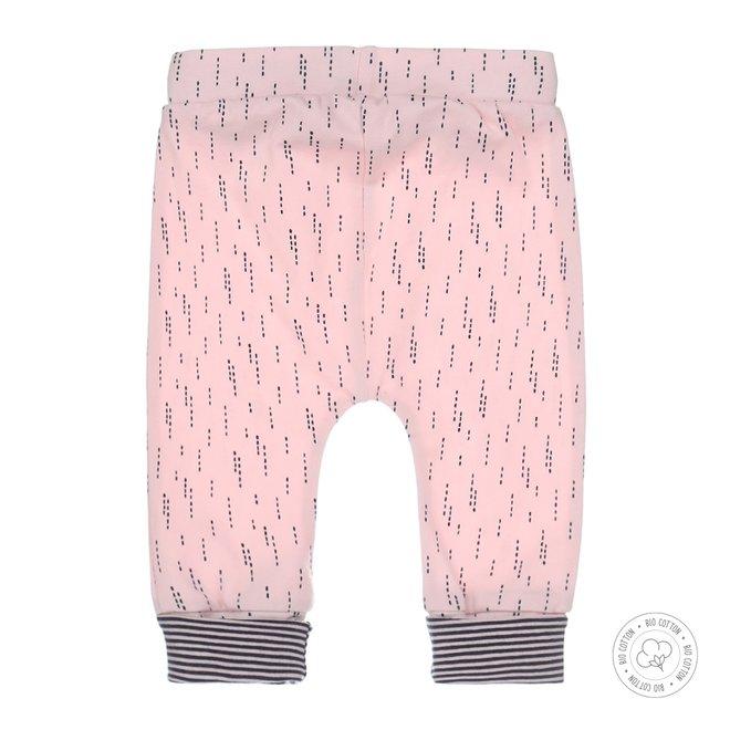 Dirkje meisjes babybroekje roze met print