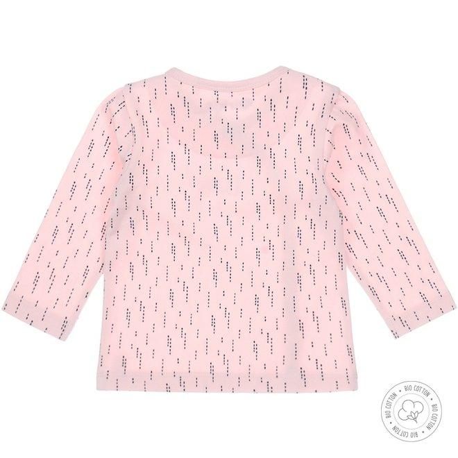 Dirkje girls baby shirt pink with navy print
