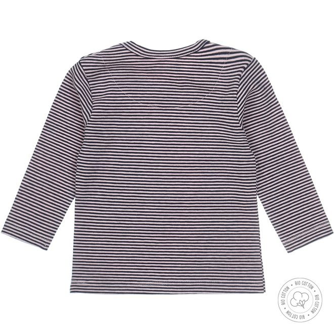 Dirkje girls baby shirt navy stripe