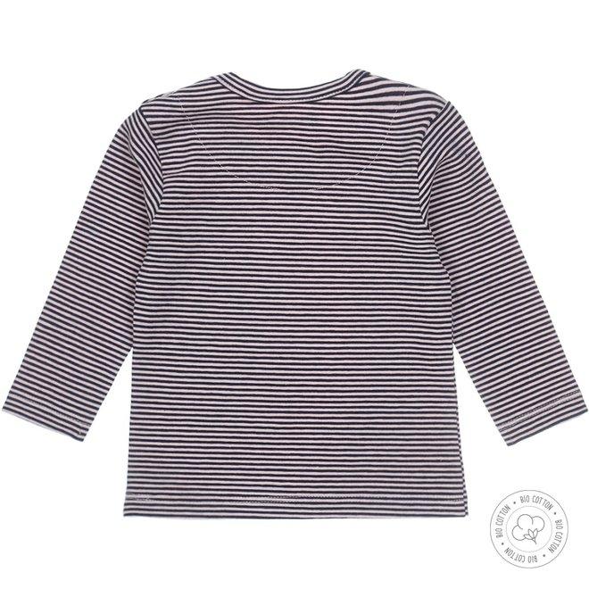 Dirkje Mädchen Babyshirt Navy gestreift