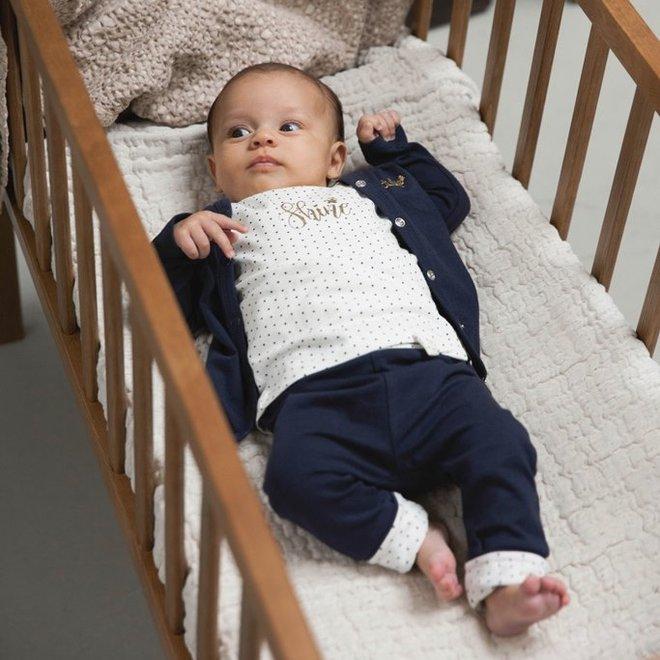 Dirkje meisjes babypakje 3-delig navy en ecru