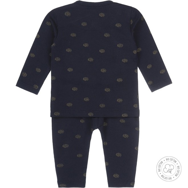 Dirkje girls babysuit 2-piece navy and gold