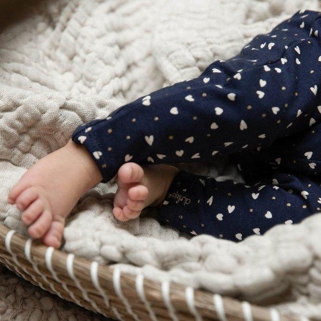 Dirkje girls baby pants navy with hearts