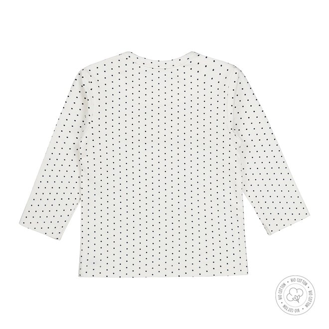 Dirkje girls baby shirt with ecru and dots