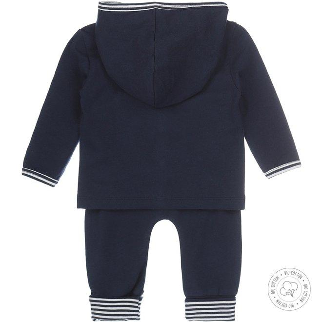 Dirkje babysuit 3-piece navy and ecru