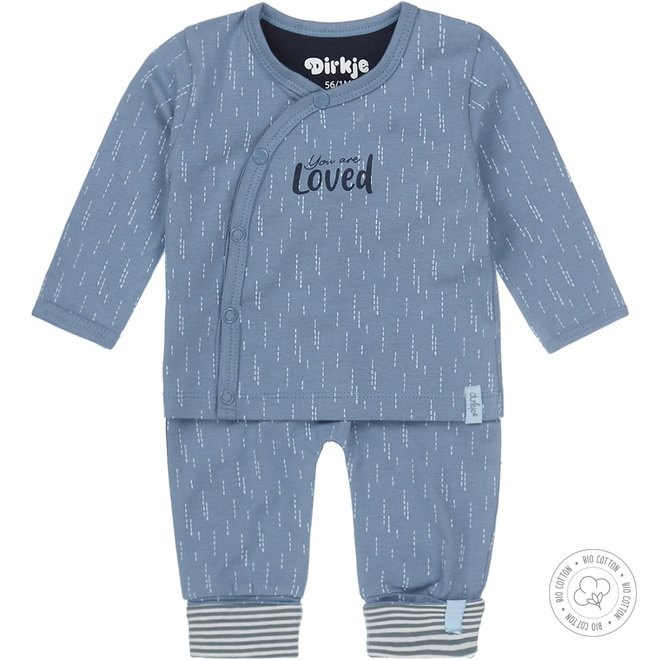 Dirkje Jungen Babyset 2-teilig Mid Blue