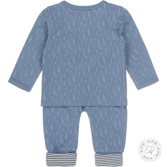 Dirkje boys babysuit 2-pack mid blue