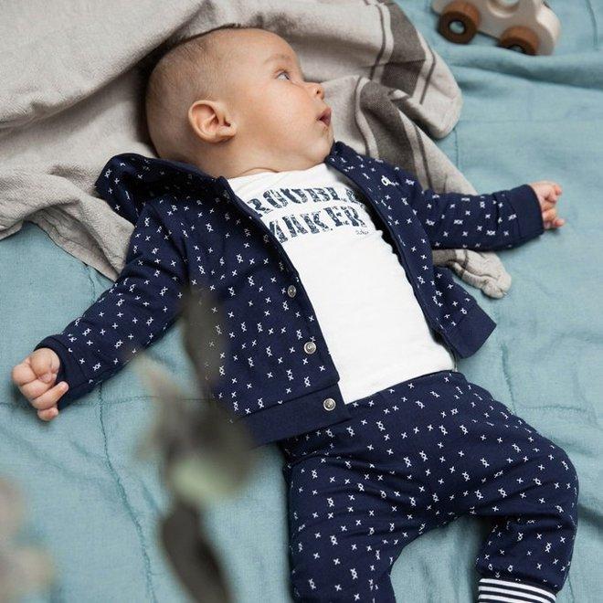 Dirkje Jungen Baby Strickjacke Navy