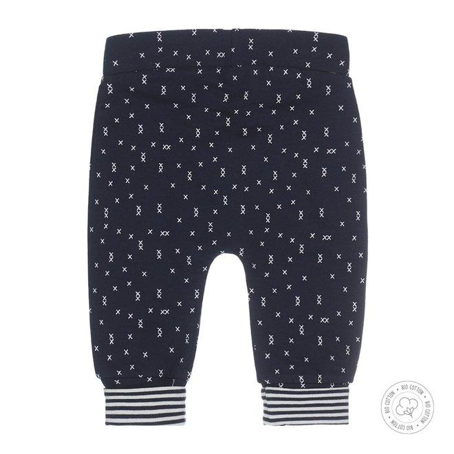 Dirkje boys baby pants navy with print