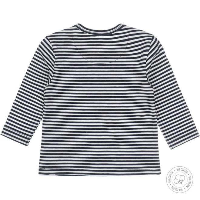 Dirkje boys shirt navy with stripe