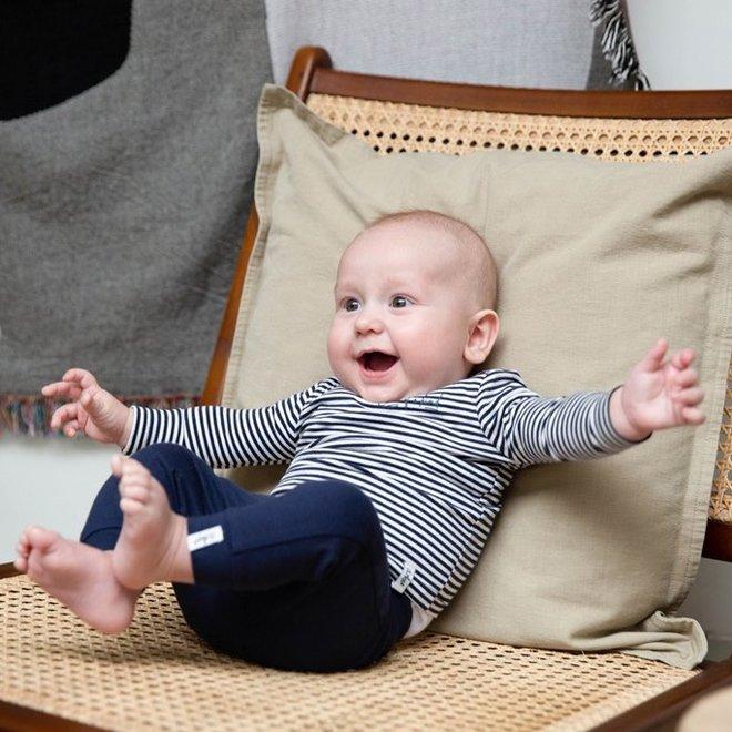 Dirkje Jungen Babyshirt Navy mit Streifen