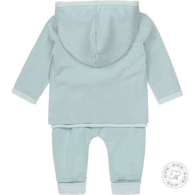 Dirkje Unisex Babyset 3-teilig Mintgrün und Ecru