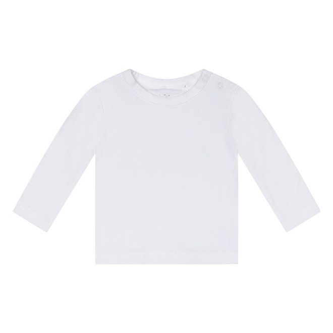 Dirkje Basic Langarmshirt Weiß