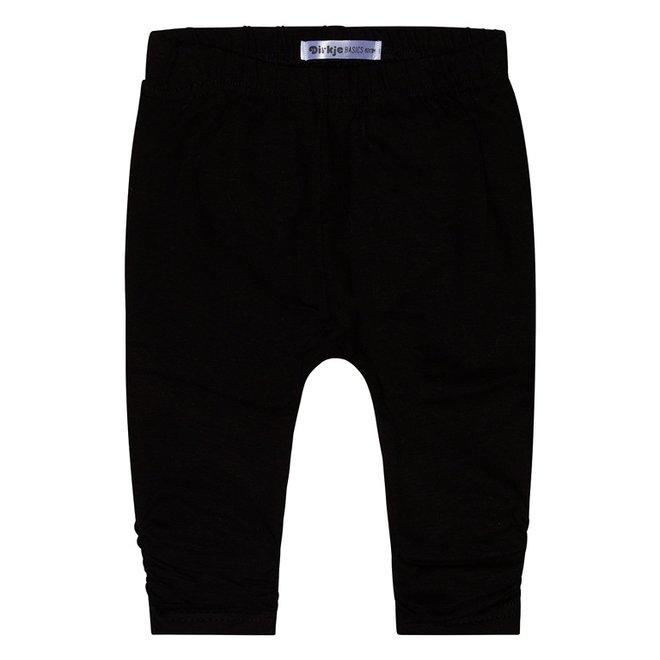 Dirkje basic meisjes legging zwart