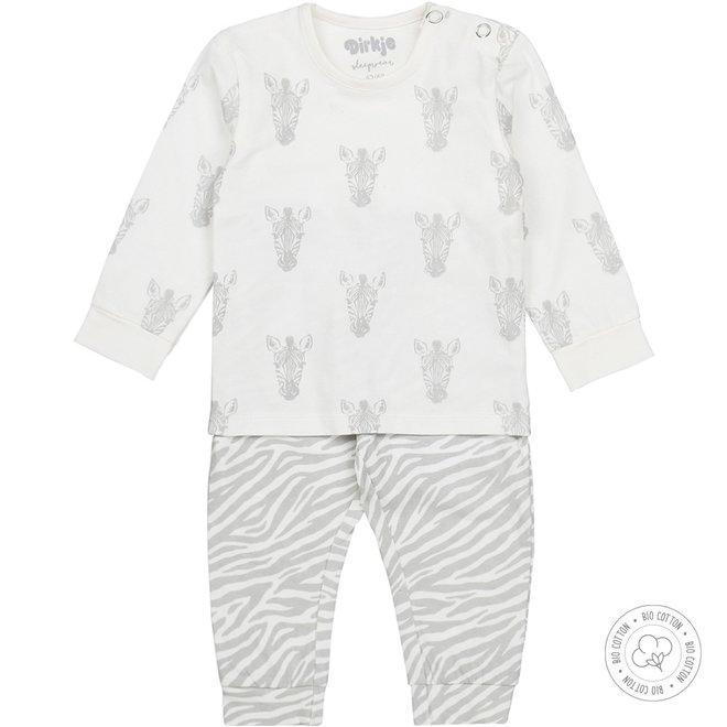 Dirkje Mädchen Schlafanzug Zebra