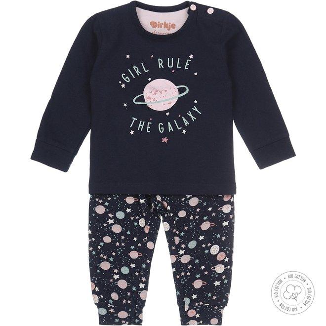 Dirkje Mädchen Schlafanzug Galaxy