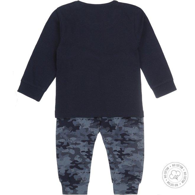Dirkje jongens pyjama legerprint